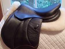 "Pristine 16. 5"" Voltaire Calgary Full Buffalo Saddle 2014"