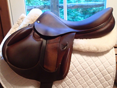 "Gorgeous 18"" Devoucoux Ioldy Monoflap Full Buffalo Saddle 2007 1AA"