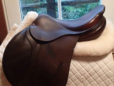 "Lovely 17.5"" PJ Bruno Delgrange Saddle 2004"