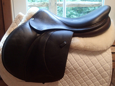 "Stunning 18.5"" Voltaire Palm Beach Full Buffalo Saddle 2012 3AAR"
