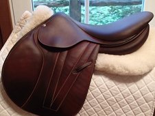 "Pristine and stunning 17"" Butet Premium Full Calfskin Saddle 2013..."