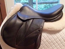 "Gorgeous 17. 5"" Voltaire Lexington Full Buffalo Monoflap Saddle 2..."
