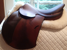 "Stunning 17"" Hermes Essentielle Buffalo Saddle 2013"