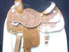 Showman Western Show Saddle, 14. 5ins Full QH Bars Ref: 220-22