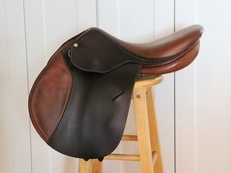 "16""/16.75"" BUTET (Beval) P seat Saddle w/ calfskin seat and knee rolls"