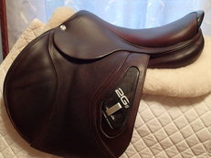 "Pristine 17.5"" CWD 2Gs Saddle 2014 2C"