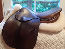 "Beautiful classic 17"" Butet Saddle 2002"