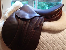 "Beautiful 16"" Butet Premium Full Calfskin Saddle 2013"