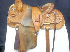 Hamley Wade Tree Western Saddle, 16ins Regular QH Bars Ref: 3685-3