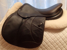 "16.5"" Voltaire Palm Beach Full Buffalo Saddle 2014 1A"