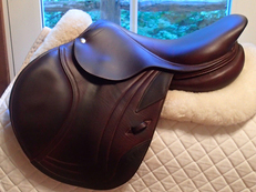 "Stunning 16.5"" CWD Full Calfskin Saddle 2014 1C"