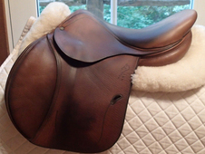 "Lovely 16. 5"" Antares Full Buffalo Saddle 2001 1A"