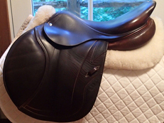 "Beautiful 17.5"" CWD Full Calfskin Saddle 2012 3C"