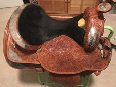 Gorgeous Circle Y Vintage Show Saddle in New Condition!
