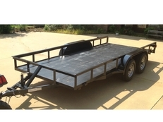 16 x 6 foot Utility Trailer, clear Title, all new 2017- tires, led lights, paint, tandem (7000 lb), (16 foot x 6 foot)