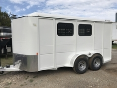 2 Horse Trailer 7ft Tall*Roomy Tack Room with Ramp