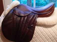 "Gorgeous and very rare 16.5"" Butet Premium Full Calfskin Saddle  1990"