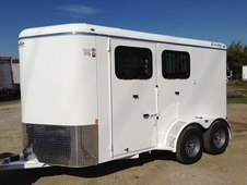 2017 2 Horse Trailer 7Ft Tall with Drop Windows and Ramp