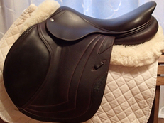 "Stunning 18"" CWD Full Buffalo Saddle 2014 4C"