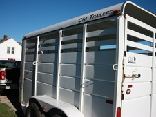2 horse trailer, bumper pull Well kept