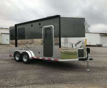 2020 Dixie Star Bumper Pull 5' Living Quarters 2 horse Trailer with Bunk Beds