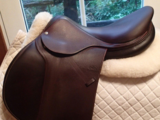 "Stunning and pristine 17. 5"" Devoucoux Biarritz Saddle with D3D T..."