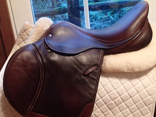 "Gorgeous 17.5"" Custom Saddlery Full Buffalo Monte Carlo Saddle 2014"