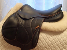 "16.5"" Devoucoux Chiberta O Full Buffalo Monoflap Saddle with D3D Technology 2016"
