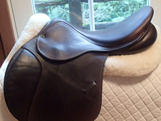"Gorgeous 18"" County Sensation Full Calfskin Saddle 2013"