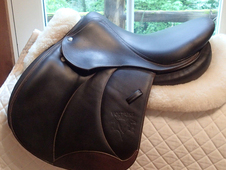 "Pristine 16"" Voltaire Palm Beach Full Buffalo Saddle 2014 1A"