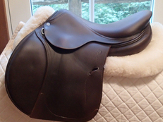 "Gorgeous 16.5"" Antares Contact Full Buffalo Saddle 2014 2N"