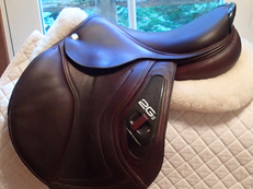 "Gorgeous pristine 17.5"" CWD 2Gs Full Calfskin Saddle 2015 2L"