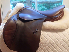 "Beautiful 17"" Tad Coffin A5G Saddle 2004"