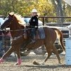 cash and my daughter rodeoing