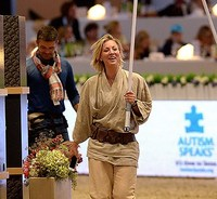 May The Horse Be With You: Kaley Cuoco Dresses In Full Jedi Outfit At Longines Masters