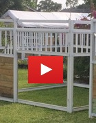 Portable Aluminium Horse Stalls - Durable to handle the toughest horses!