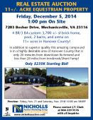 11+ Acre Equestrian Real Estate Auction - DECEMBER 5th